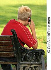 téléphone portable, communication.