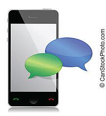 téléphone portable, communications