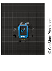 téléphone portable, conception, technologie, noir