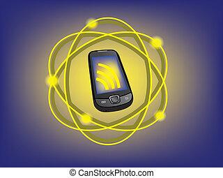 téléphone portable, connexion