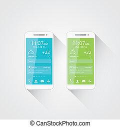 téléphone portable, développement, vecteur