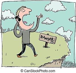 téléphone portable, danger: