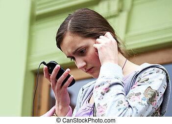 téléphone portable, girl