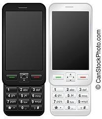 téléphone portable, glisseur