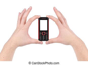 téléphone portable, hands.
