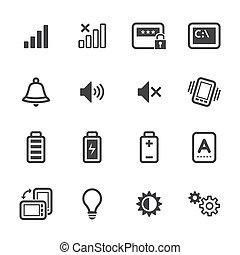 téléphone portable, icônes