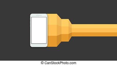 téléphone portable, infographics