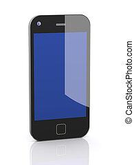 téléphone portable, intelligent, 3d