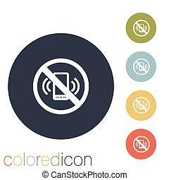 téléphone portable, interdit, usage