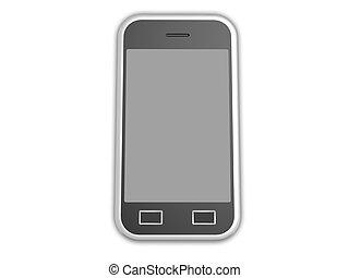 téléphone portable, isolé