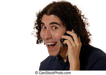 téléphone portable, jeune homme