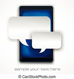 téléphone portable, message