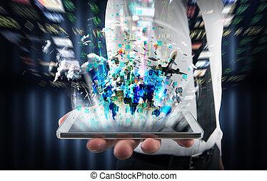 téléphone portable, multimédia