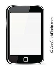 téléphone portable, noir