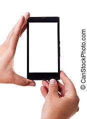 téléphone portable noir