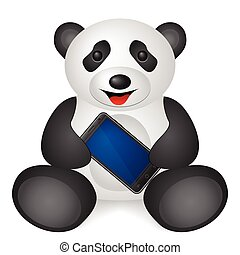téléphone portable, panda