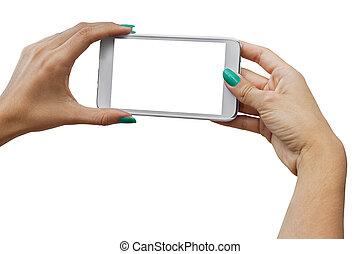 téléphone portable, photographier