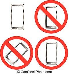 téléphone portable, prohibition, signes