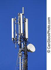 téléphone portable, repeater, communication