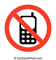 téléphone portable, signe., non