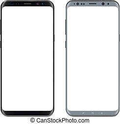 téléphone portable, smartphone, isolé