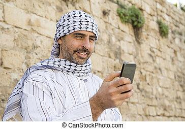 téléphone portable, smartphone, musulman