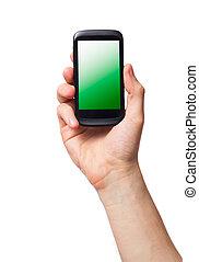 téléphone portable, (smartphone, touchscreen)