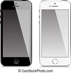 téléphone portable, style, semblable, iphone