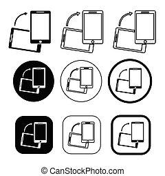 téléphone portable, symbole, icône, signe