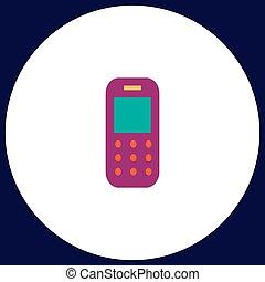 téléphone portable, symbole, informatique