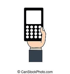 téléphone portable, téléphone, main