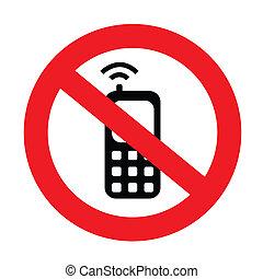 téléphone portable, ton, silencieux, signe