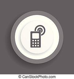 téléphone portable, vecteur, icône