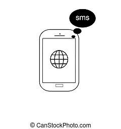 téléphone portable, vecteur