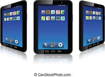 téléphone portable, vector.