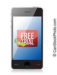 téléphone, procès, message, gratuite