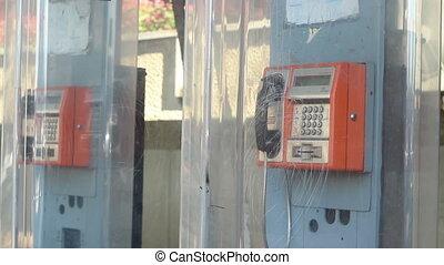 téléphone, public, sonner