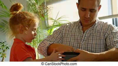 téléphone, réalité, casque à écouteurs, mobile, mettre, ...
