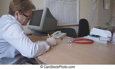 téléphone, réponses, docteur, monde médical