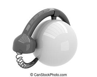 téléphone, résumé, fond blanc