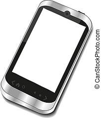 téléphone, résumé, touchscreen, intelligent
