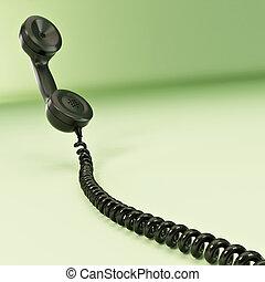 téléphone, reciever., 3d