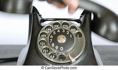 téléphone, retro, appeler