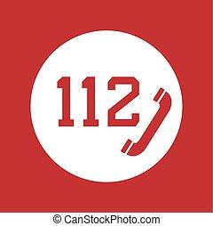 téléphone, reveil, rouges, 112