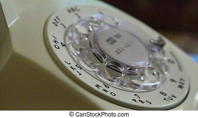 téléphone, rotatif, dialed