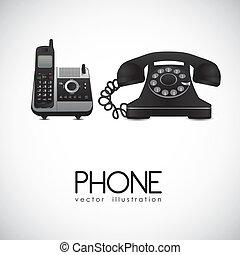 téléphone, rotatif, sans fil