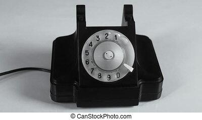 téléphone, rotation, vieux, cinemagraph, nombre, composer, appeler, vendange