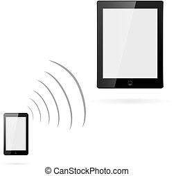 téléphone, sans fil, transfert données