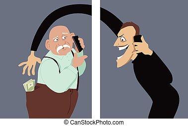 téléphone, scam