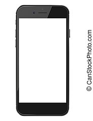 téléphone, screen., intelligent, vide